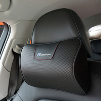 Genuine Leather RDESIGN Car Headrest Neck Support R DESIGN Car Pillow For Volvo V40 V60 S40