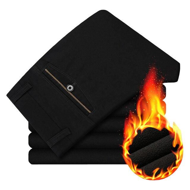 2017 Новая Мода Теплый Сгущает Хлопок Мужчины Брюки Мужчины Случайные брюки Pantalon Homme Сплошной Цвет Высокое Качество Осенние Брюки для мужчины