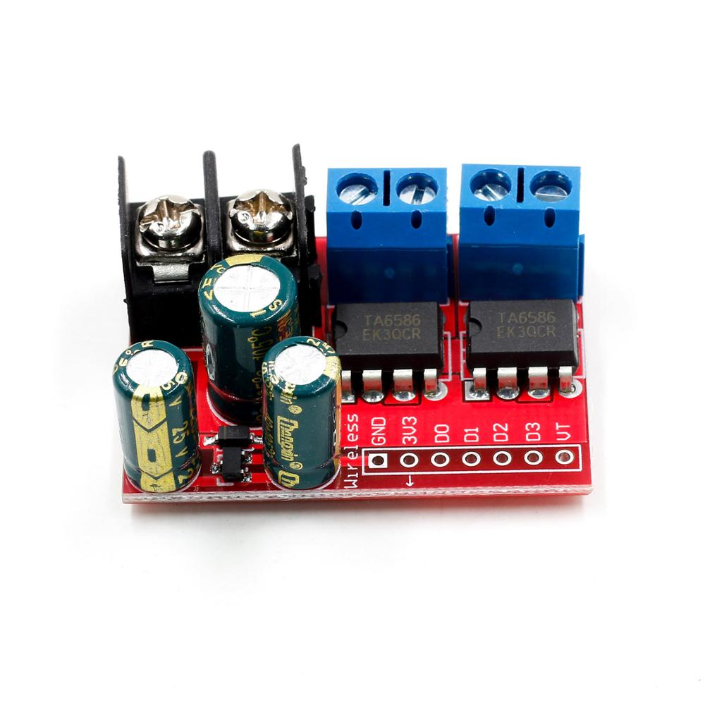 Image 3 - New 5A Dual DC Motor Drive Module Remote Control Voltage 3V 14V Reverse PWM Speed Regulation Double H Bridge Super L298N 5AD-in Integrated Circuits from Electronic Components & Supplies