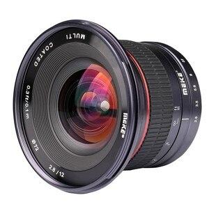 Image 4 - Meike lente de cámara gran angular F2.8 de 12mm lente fija de enfoque Manual de APS C para cámara Canon, EF M, Fujifilm, Sony, Nikon, 1 M4/3