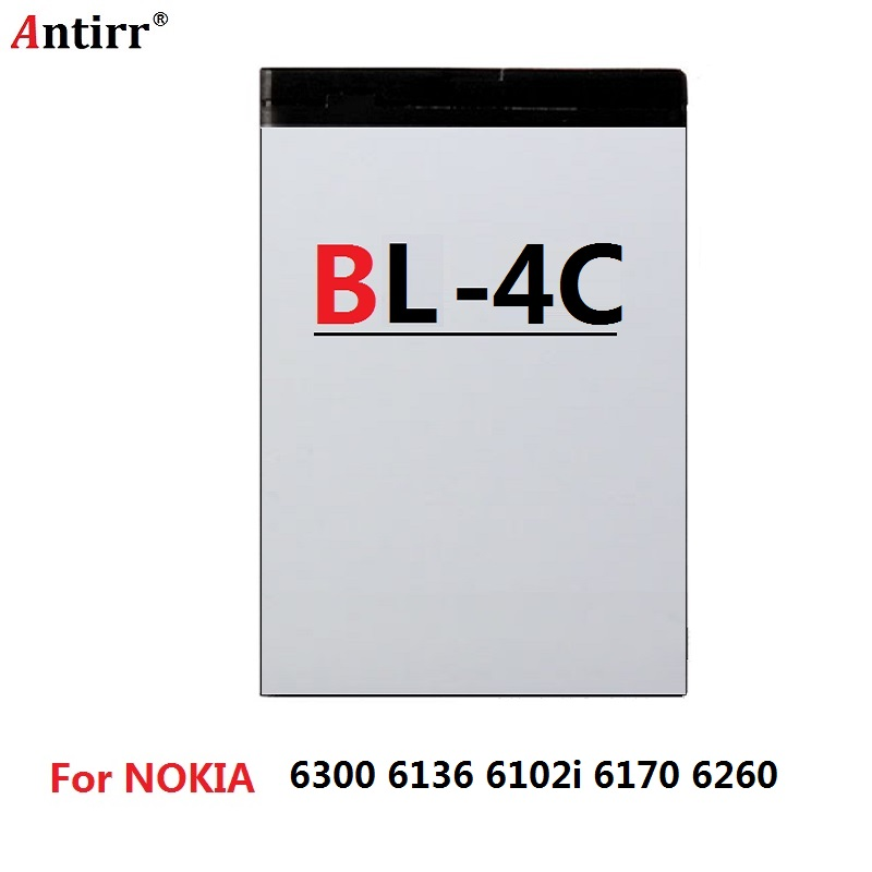 3.7V <font><b>BL</b></font>-<font><b>4C</b></font> Cell Phone Battery For <font><b>Nokia</b></font> 1661,1662 3500C,6100,6102,6136,6170,6260,6300i,6301 Free Shipping image