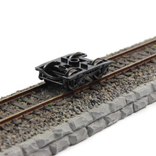 лучшая цена 1/160 Scale Train Model Wheels With brake detail for railway model train cabin layout