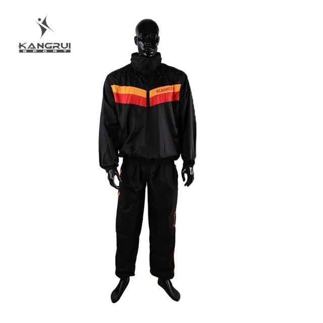 Red Black Waterproof airproof Sweat coat sauna suit men women running sport fitness uniform lose weight reduce weight clothes 1