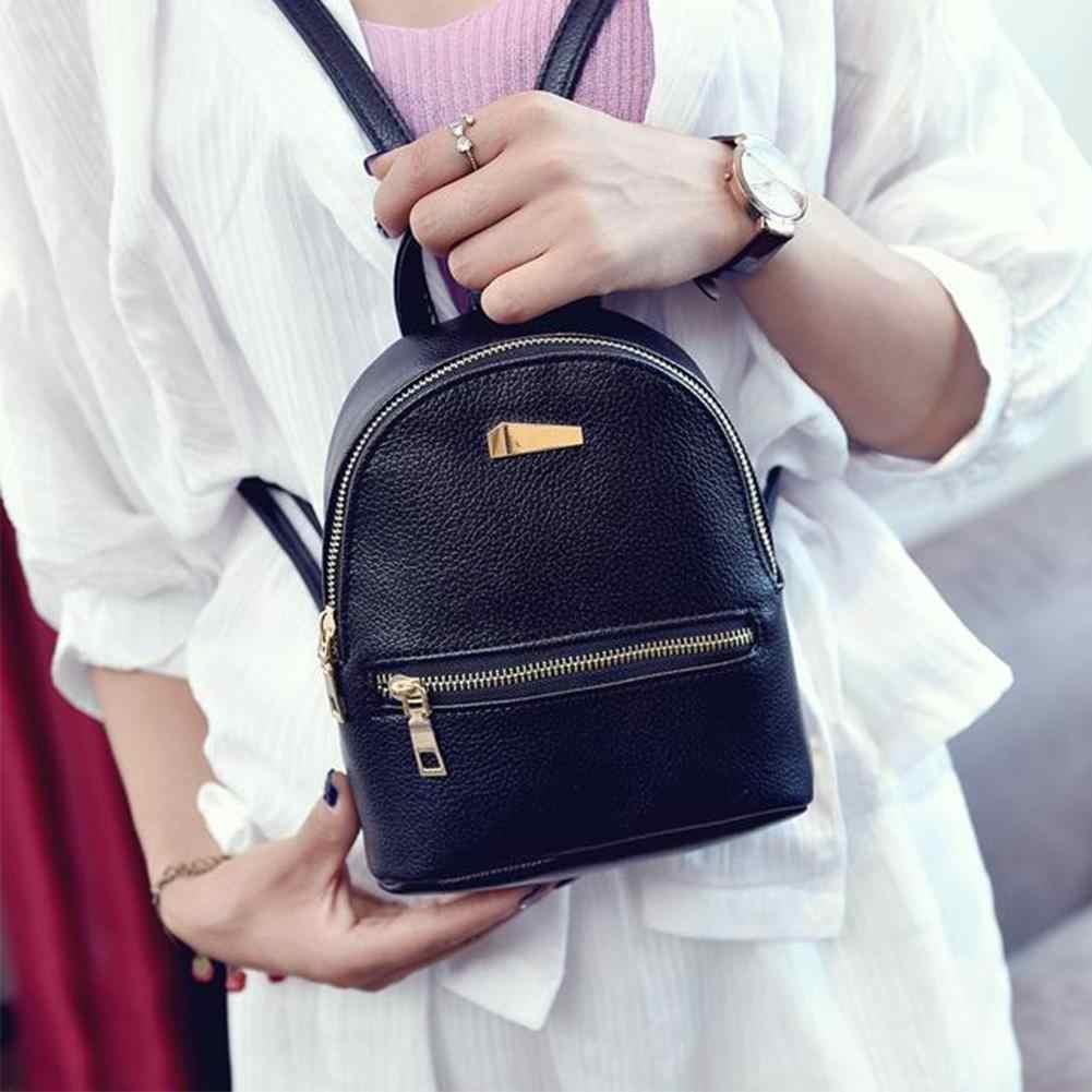 7300efbc20 ... NEW Fashion Women Girls Leather Backpacks Mini Travel Rucksack Cute  School Bag