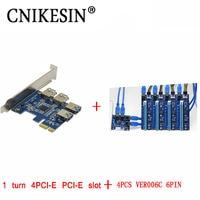 Newest PCI E To PCI E Adapter 1 Turn 4PCI E PCI E Slot One To
