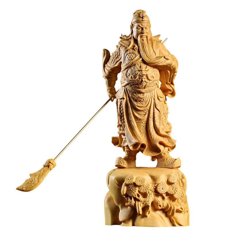 Armed war gods Fortuna Guan Gong guan Erye guanyu boxwood carving home wood decoration carvings buddhasArmed war gods Fortuna Guan Gong guan Erye guanyu boxwood carving home wood decoration carvings buddhas