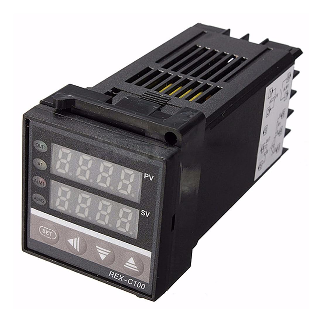 Image 3 - Digital 220V PID REX C100 Temperature Controller + max.40A SSR + K Thermocouple, PID Controller Set + Heat Sinkrex-c100 temperature controllerpid rex-c100pid controller -
