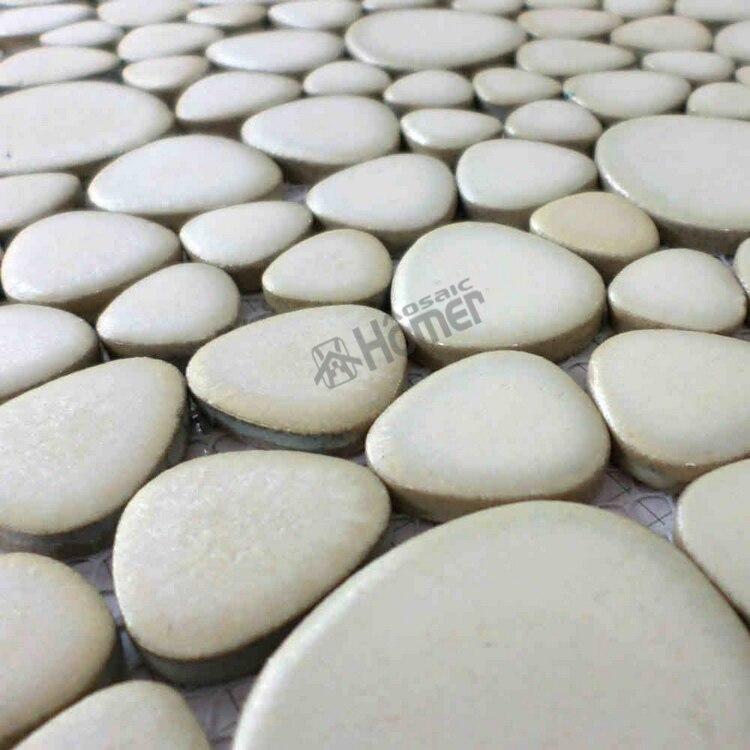 """doprava zdarma !! 12x12 """"bílá oblázková keramická mozaika pro obklady do koupelny, dlaždice pro plavecký bazén"""