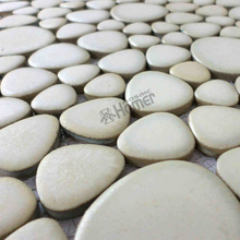 "shipping free!! 12x12"" white color pebble ceramic mosaic tiles for bathroom floor tiles, swimming pool tile"