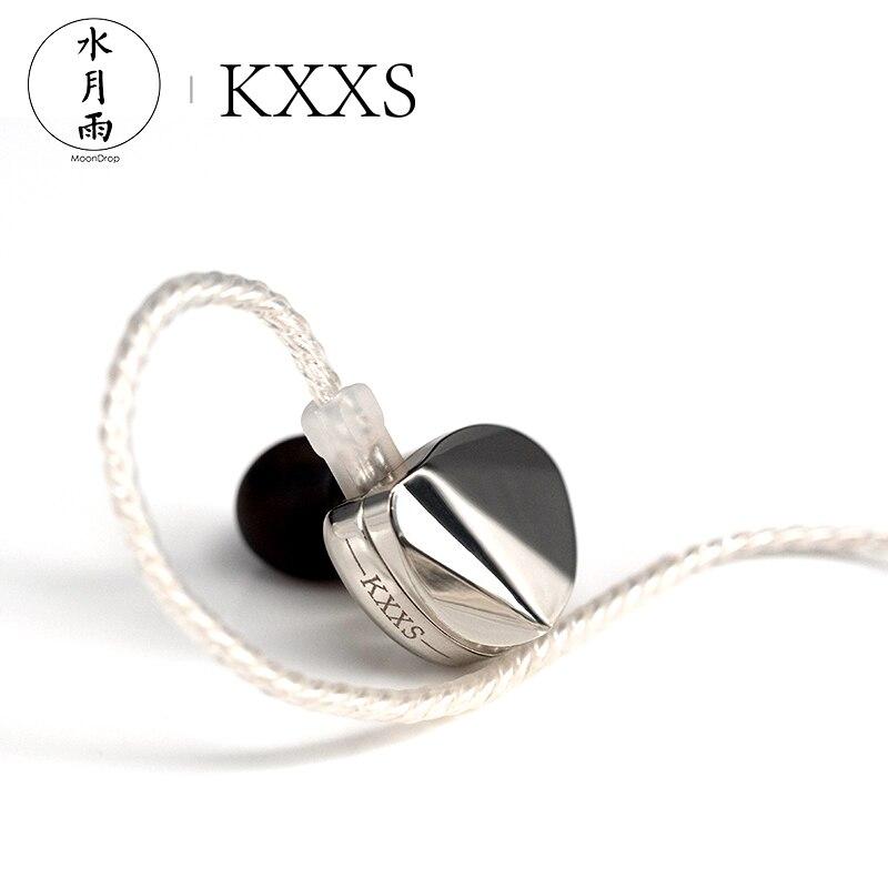 MoonDrop KXXS HiFi Audio Diamond Like Carbon Diaphragm Dynamic In ear Monitor Earphone IEM with 2