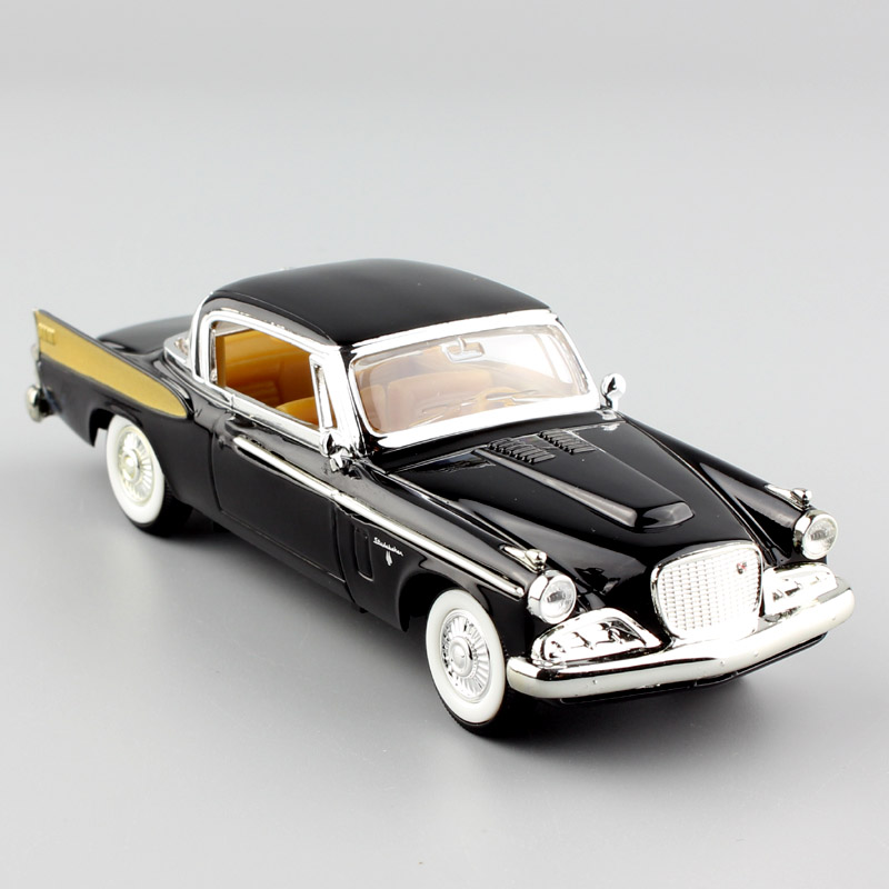 US $12 97 41% OFF|1/43 Scale mini Deluxe 1958 Studebaker Golden Hawk  hardtop coupe die cast metal mint model vehicles Car van toys for childs  boy-in