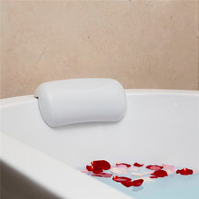 ספא אמבטיה כרית החלקה אמבטיה משענת ראש רך עמיד למים אמבטיה כריות עם כוסות יניקה קל נקי אביזרי אמבטיה