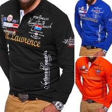 ZOGAA Brand Long sleeve men polo shirt Casual streetwear polo shirt men  4 colors size plus S-3XL men polo shirt men fashions men s polo shirt tom farr t m4033 55
