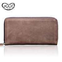 GOOG.YU 100% genuine leather mens wallet premium product real cowhide wallets for man wallets ID Card Holder coin purse