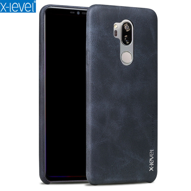 huge discount 2cbc4 6ddf2 US $7.87 15% OFF|Original X Level For LG G7 ThinQ Case Vintage Cowboy PU  Leather Back Cover Case For LG G7 G 7 G710 thin Phone Case-in Half-wrapped  ...