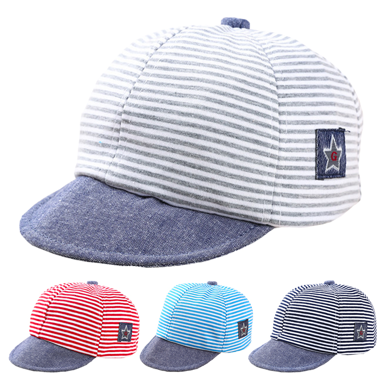 New Kids Baby Boys Girls Summer Hat Striped Hip Hop Baseball Cap Snapback Peaked
