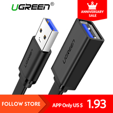 Ugreen USB 3.0 Cable Flat Extension Cable Male to Female Data Cable USB 3.0/2.0 Extender Cord for Computer USB Extension Cable