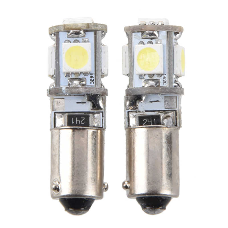 2X CANBUS 5 SMD LED Parkir Bohlam Lampu H6W BAX9S Tren
