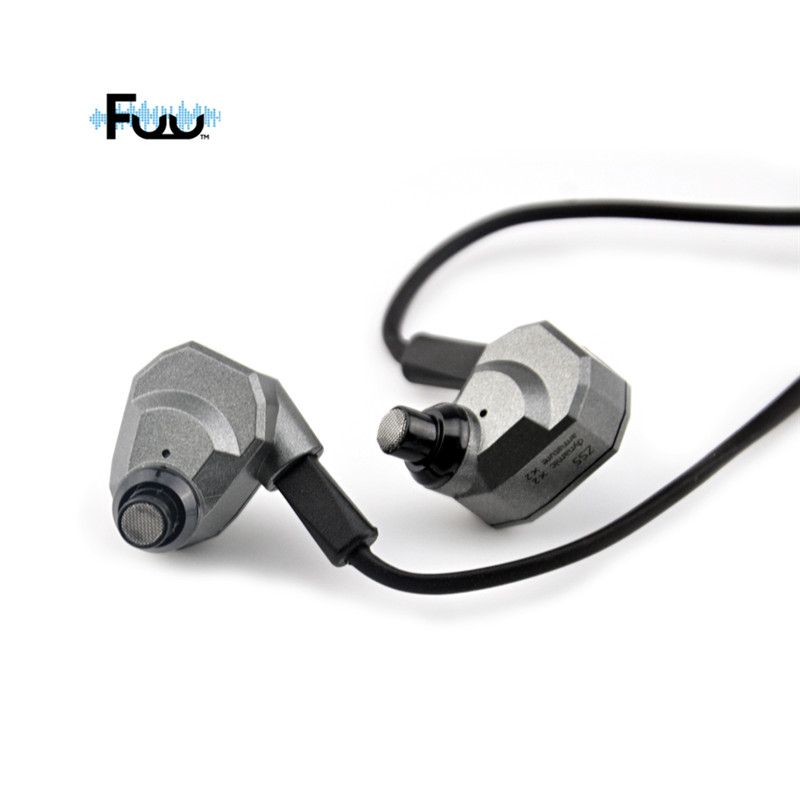 FUU In-Ear Wired Earphone HIFI DJ Monito Running Sport Earplug Headset Wearable Hybrid Earphone KZ Headphones for iPhone Android kz ates ate atr hd9 copper driver hifi sport headphones in ear earphone for running with microphone game headset