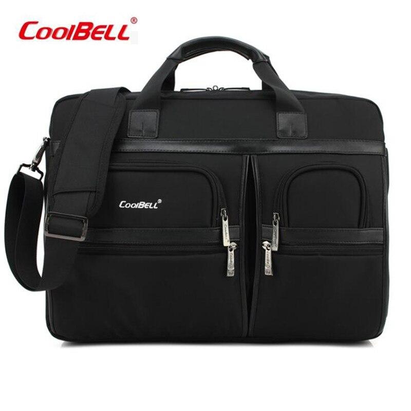 все цены на 2017 Cool Bell Laptop Briefcase Messenger Bag For Men Shockproof 17 inch Women Computer Bag Large Capacity Travel Handbag M630 онлайн