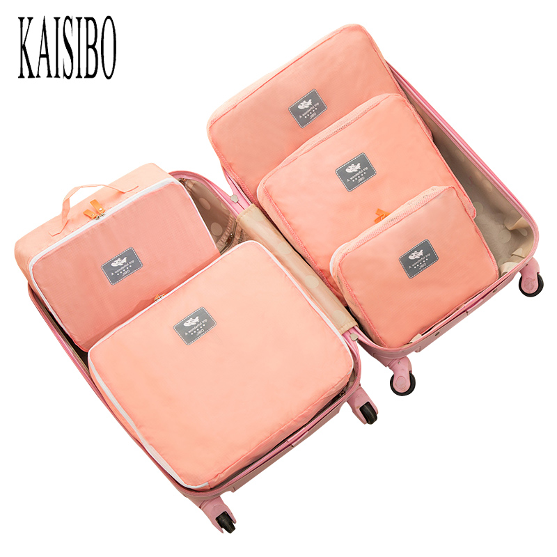 KAISIBO Multi-Functional Portable Travel Organizer Bag 5pcs/set Clothes Packing Cubes Waterproof Luggage Bag Pouch motorcycle tank bag helmet travel tool tail luggage waterproof multi riding tribe