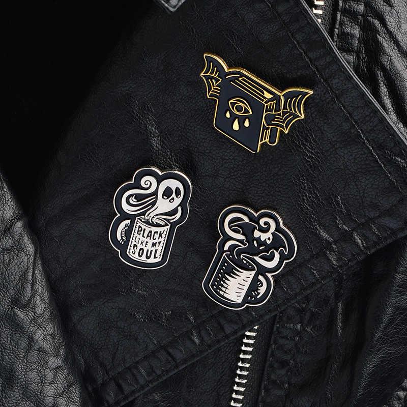 유령 악마 브로치 금속 에나멜 배지 액세서리 아이콘 의류 티셔츠 의류 가방 배낭 diy 성격