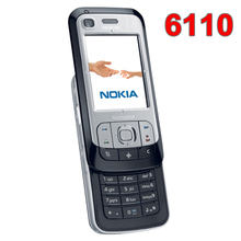 Odnowiony oryginalny odblokowany telefon komórkowy NOKIA 6110 Navigator rosyjska klawiatura arabska klawiatura