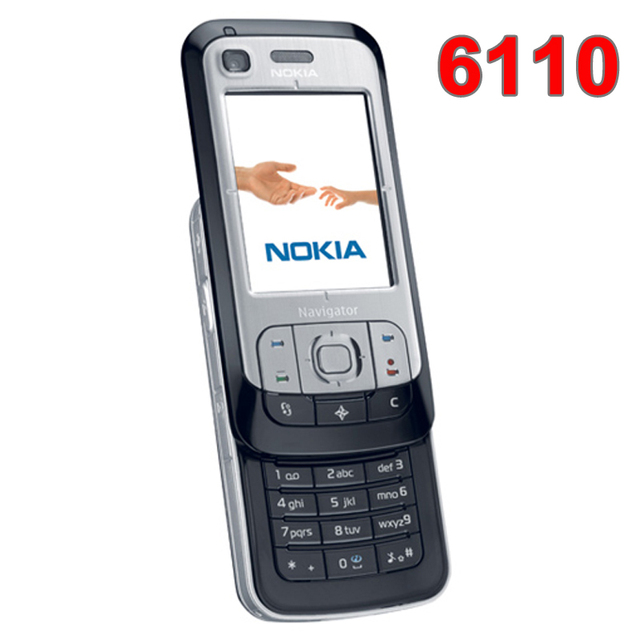 Refurbished Original Unlocked NOKIA 6110 Navigator Mobile Phone Russian  keyboard Arabic Keyboard