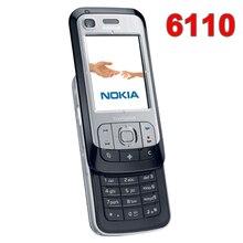 Yenilenmiş orijinal Unlocked NOKIA 6110 Navigator cep telefonu rus klavye arapça klavye