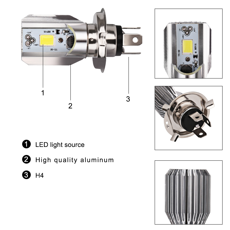 Back To Search Resultshome 12v Hs1 H4 Led Motorcycle Moped Scooter Light Bulb Led Hs1 H4 Led Motorbike Motorcycle Headlight Bulbs Scooter Moto Accessories