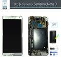 ЖК-Сборки для Samsung Note 3 N900 N900A N900V N9002 N9005 ЖК-Дисплей С Сенсорным Экраном Стекла Digitizer Экран Замена Рамы
