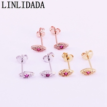 12Pairs gold/silver/rose gold cz Earring girls minimal tiny small cute eye stud