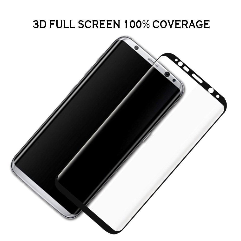 Գունավոր ապակի Samsung Galaxy S8 S8 Plus 3D Ամբողջ - Բջջային հեռախոսի պարագաներ և պահեստամասեր - Լուսանկար 3