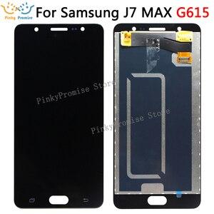 Image 1 - LCD Ekran Samsung J7 MAX Ekran dokunmatik panel sayısallaştırıcı Meclisi Yedek Parçalar SAMSUNG G615 LCD ekran