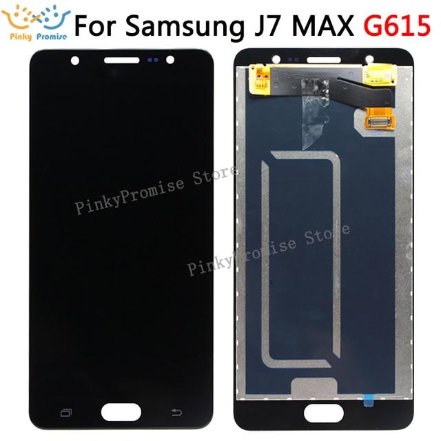 LCD Ekran Samsung J7 MAX Ekran dokunmatik panel sayısallaştırıcı Meclisi Yedek Parçalar SAMSUNG G615 LCD ekran