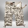 Камуфляж шорты мужские свободные Военные шорты homme летом бермуды Колен пляжные шорты брюки Фитнес случайные грузовые шорты