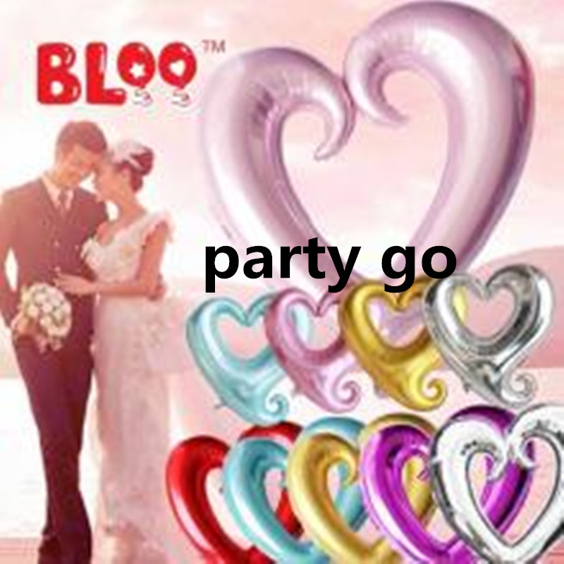 Big size 42inch wedding love balloons Hook Heart Balloons For Party Decoration f