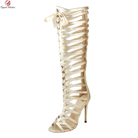 Original Intention New Elegant Women Sandals Butterfly Knot Open Toe Thin Heels Nice Gold Silver Shoes