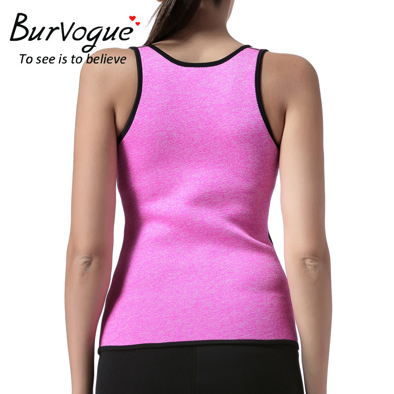 acd804ea31 Burvogue Hot Shapers Sauna Sweat Neoprene Body Shaper Women Slimming Thermo  Push Up Vest Waist Trainer Cincher Corset Plus Size -in Tops from Underwear  ...