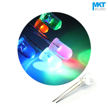 100Pcs Free Shipping Sample 5mm Long Pins Through Hole High Brightness LED Diode Light Color=Green/Red/Yellow/Blue/White image