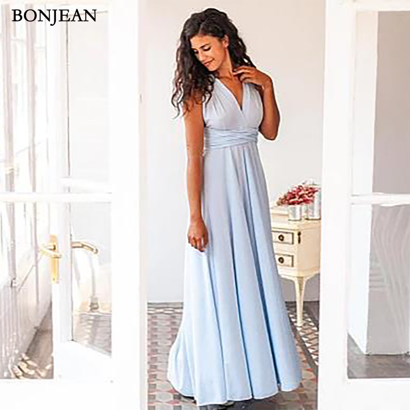 Elegant A-Line Chiffon Long   Bridesmaid     Dresses   Cheap Open Back Wedding Party Gown   Bridesmaid   DresseCustom Made