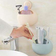 Suction Wall-Mounted Toothbrush Holder Punch-Free Gargle Cup Holder Toothbrush Organizer Stand Rack Home Bathroom Accessories