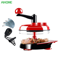 Manual Food Processor Hand Powered Miracle Baby Multi Vegetable Chopper Meat Grinder Fast Salsa Maker Food