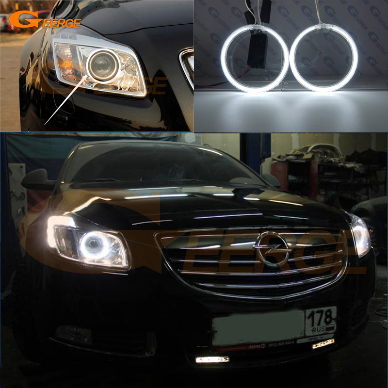 For Opel Insignia 2008 2009 2010 2011 2012 2013 Excellent Ultra bright illumination CCFLangel eyes kit Halo Ring car rear trunk security shield shade cargo cover for nissan qashqai 2008 2009 2010 2011 2012 2013 black beige