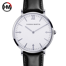 Hannah Martin Dropshipping Quartz Watch Men Creative Arrow Simple Fashion reloj hombre Leather Band Waterproof relogio masculino
