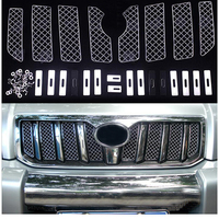 Car Insect Screening Mesh Front Grille For Toyota Land Cruiser Prado FJ 120 2003 2004 2005 2006 2007 2008 2009 Accessories