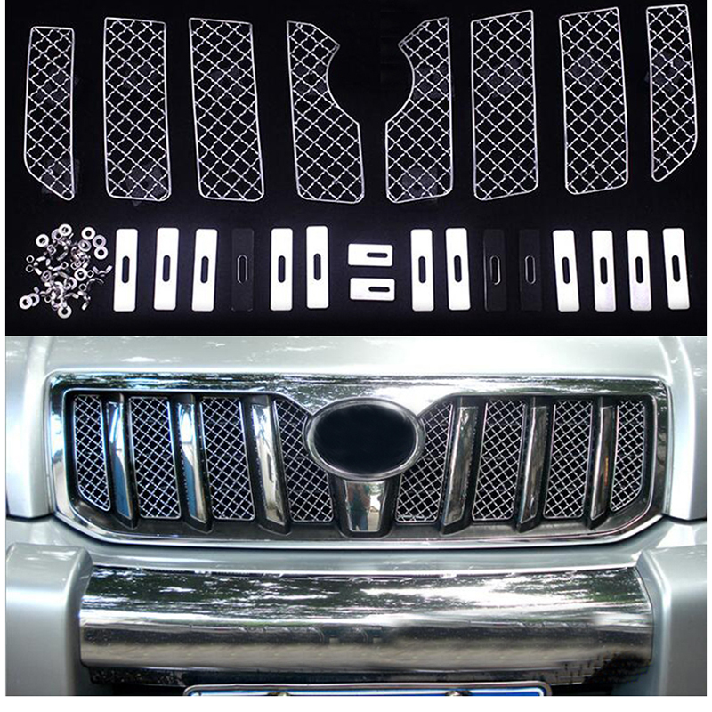 Car Insect Screening Mesh Front Grille For <font><b>Toyota</b></font> Land Cruiser Prado FJ <font><b>120</b></font> 2003 2004 2005 2006 2007 2008 2009 Accessories image