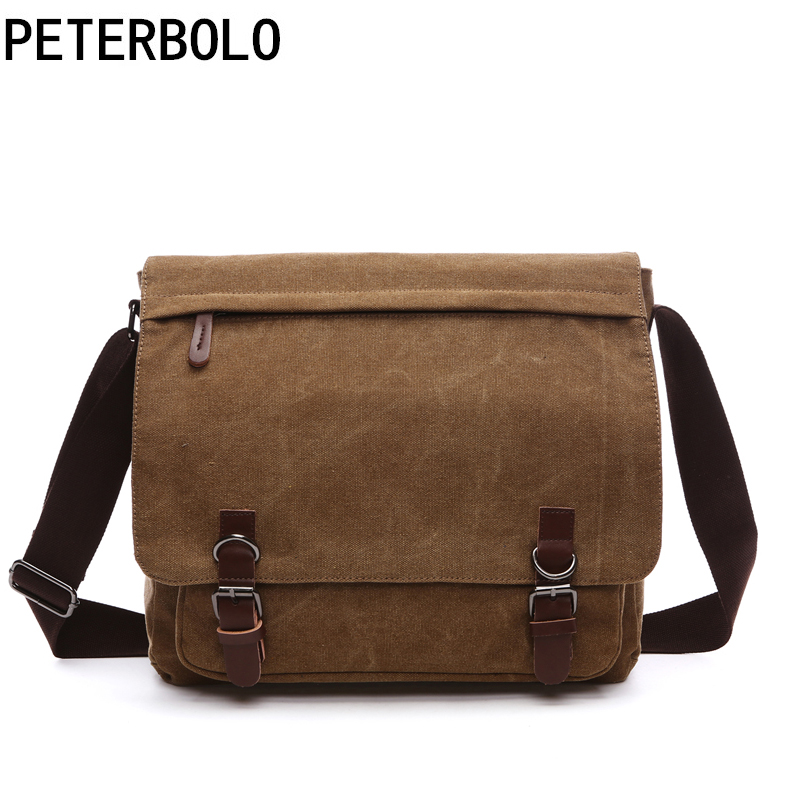 New Canvas Man Crossbody Bag Fashion Business Shoulder Bag Street Style Male Messenger Bag Durable Laptopbag Casual Gentlemanbag man s casual canvas shoulder bag messenger bag coffee white