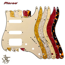 Quality Guitar Pickguard -For US 11 Screw Holes Stratocaster With Floyd Rose Tremolo Bridge Humbucker Single HSS Scratch Plate gold prewired 1 ply 11 holes sss mirror pickguard 3 single coil pickups with magnets for stratocaster guitar