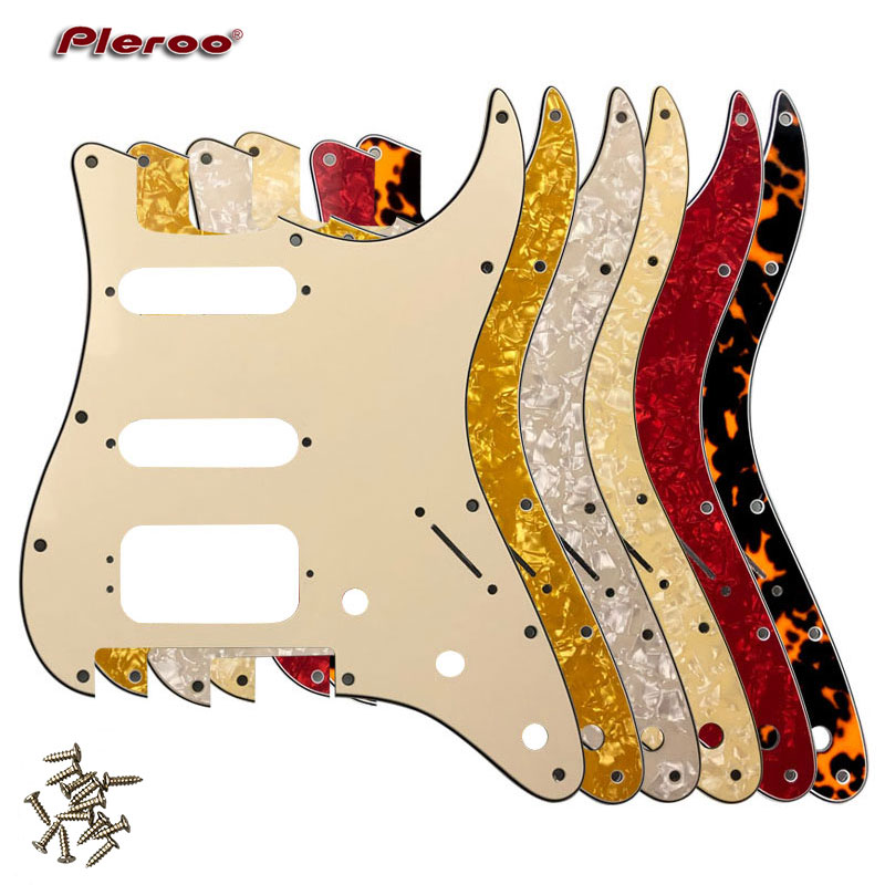 Quality Guitar Pickguard -For US 11 Screw Holes Stratocaster With Floyd Rose Tremolo Bridge Humbucker Single HSS Scratch Plate title=